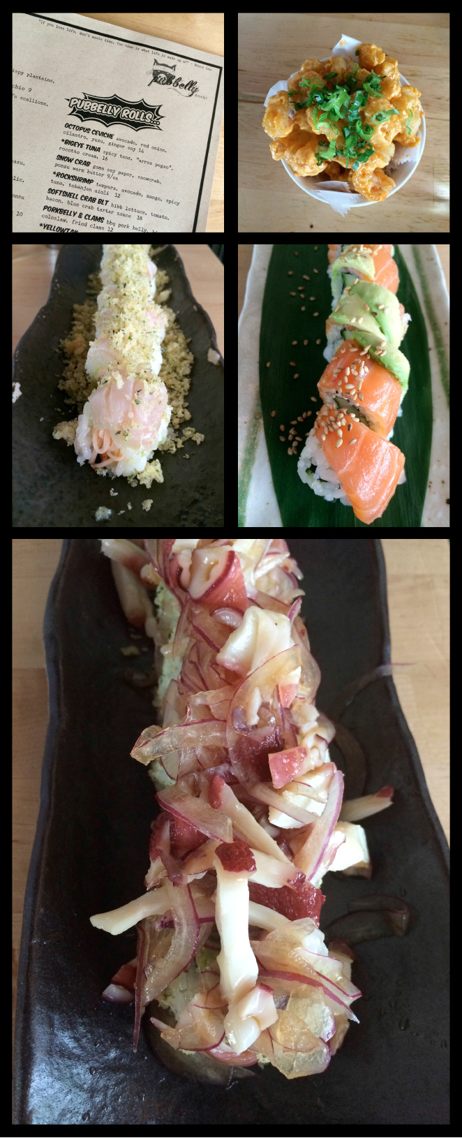 """Pubbelly Sushi donde se pueden tomar originales y exquisitas recetas de """"rolls"""" y de platos típicos japonés con un toque americanizado"""