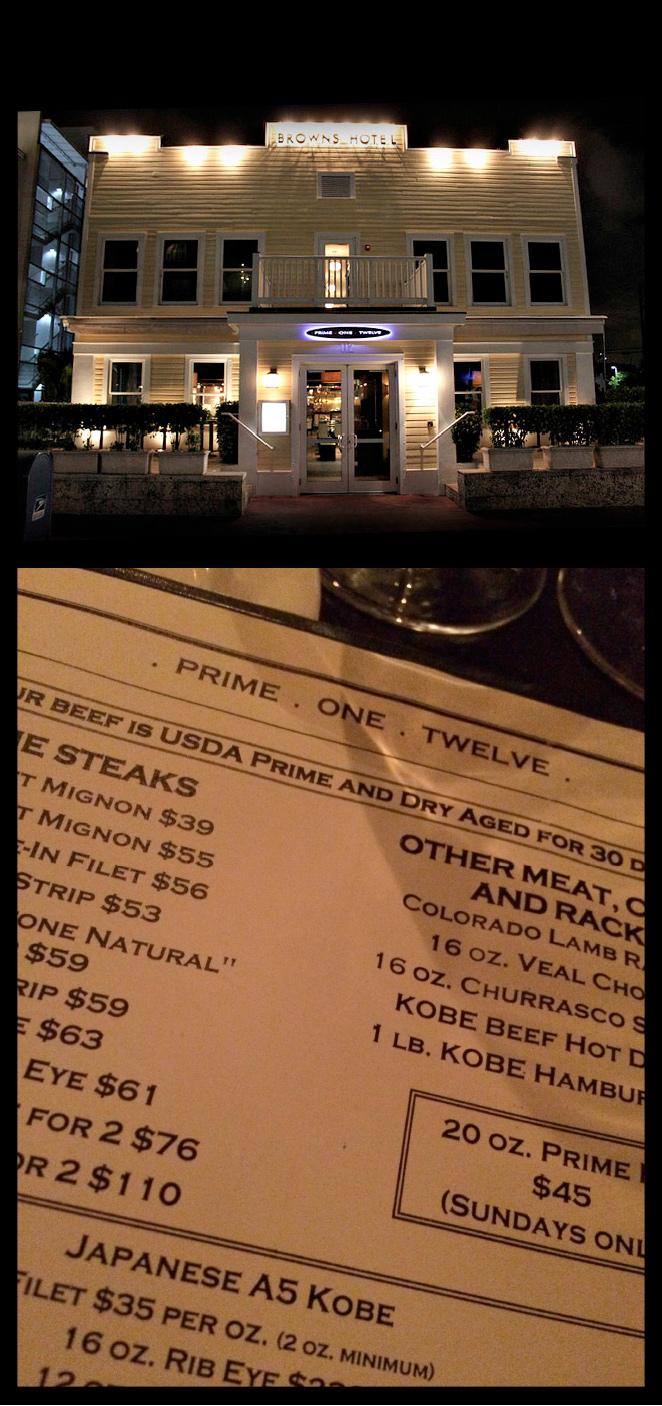 Prime One Twelve. Es uno de los restaurantes más concurridos de la ciudad, donde es casi imposible conseguir mesa. Está situado en pleno South Beach y es perfecto para carnívoros.