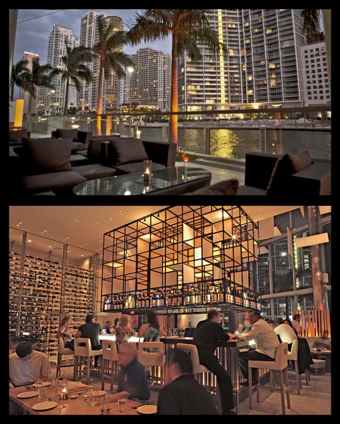 Zuma Miami Lounge situado en Downtown Miami.