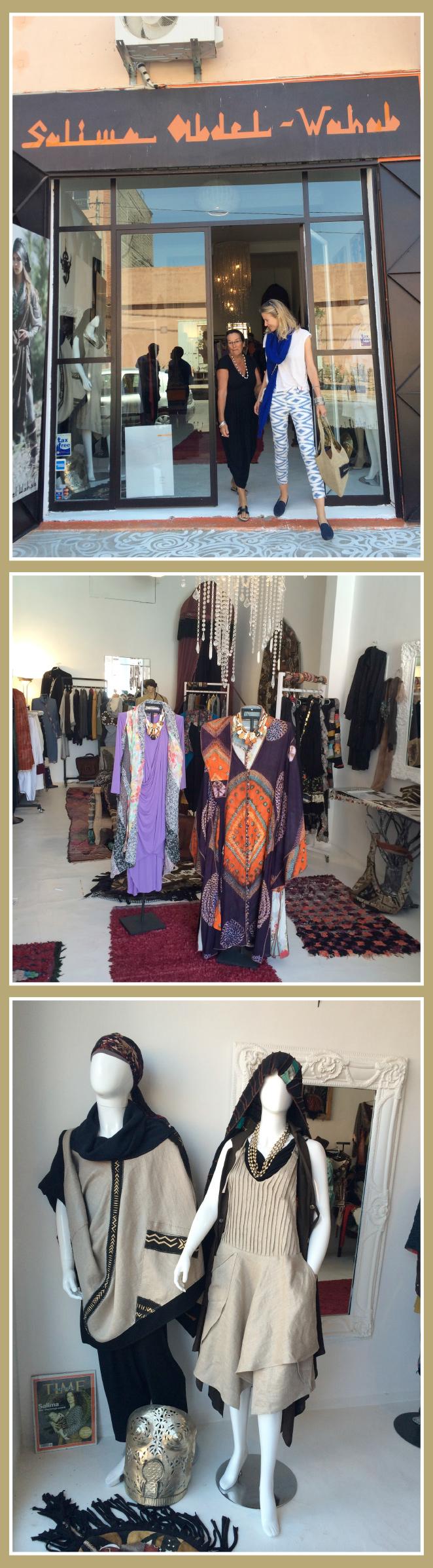 Con la diseñadora marroquí Salima Abdel Wahab