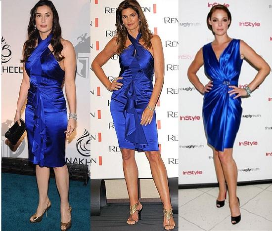 Complementos para vestido azul electrico corto