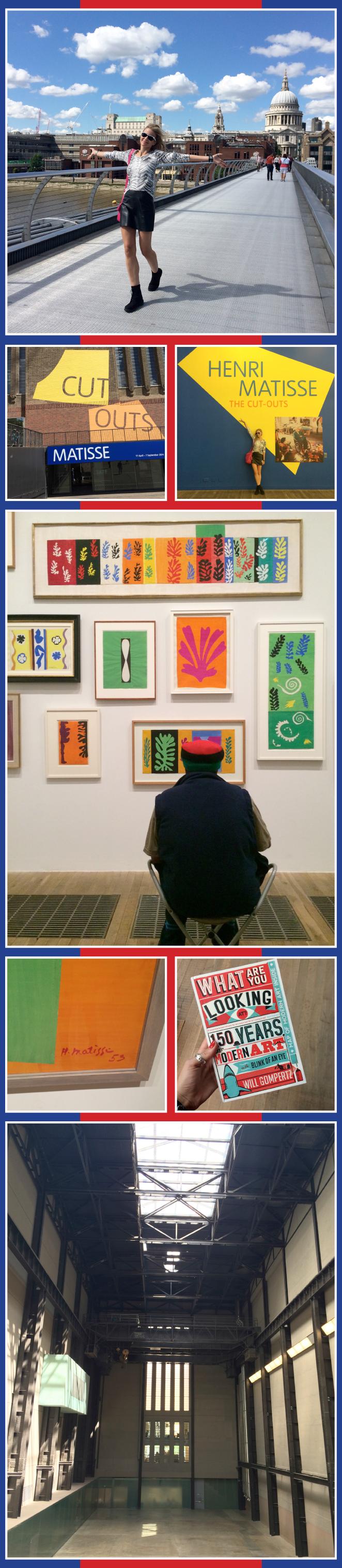 Maria Leon en Tate Modern donde visito las obras de Matisse