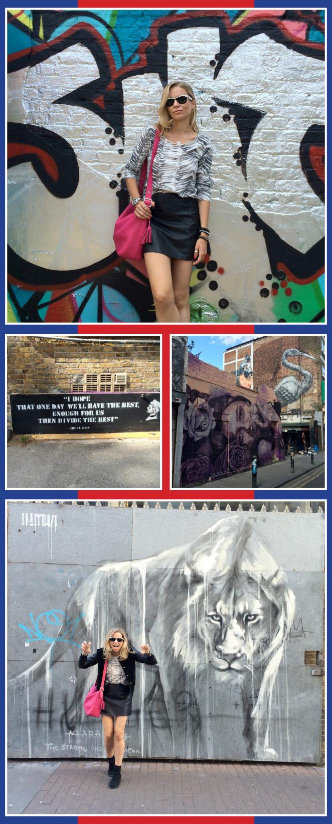 Los grafittis del East End, zona Shoreditch