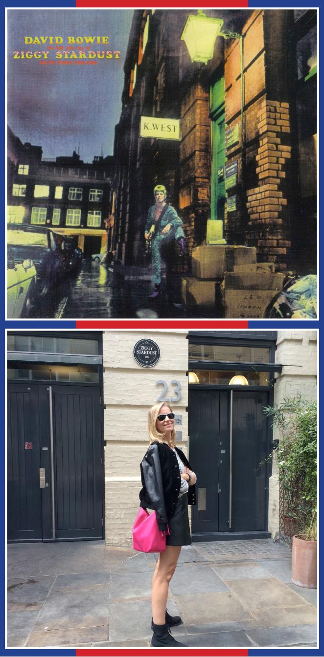 Sitio exacto que aparece en la portada del disco de David Bowie: The rise and fall of Ziggystardust and The Spiders Frommars