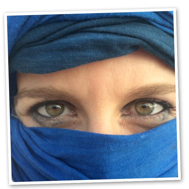 Momento de María León durante su viaje por Marruecos