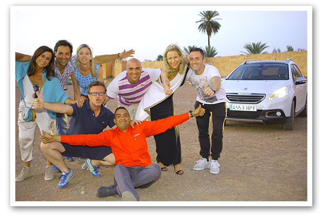 Equipo con el que trabajé durante toda mi aventura por Marruecos