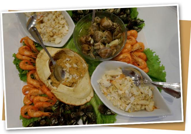 """Para degustar de un buen pescado y marisco fresco, el restaurante """"Os Lusíadas"""" situado en el barrio """"Matosinhos"""""""