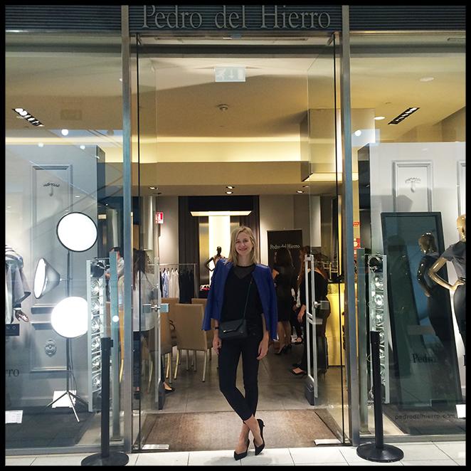 María León en las tienda de la firma Pedro del Hierro en Lisboa