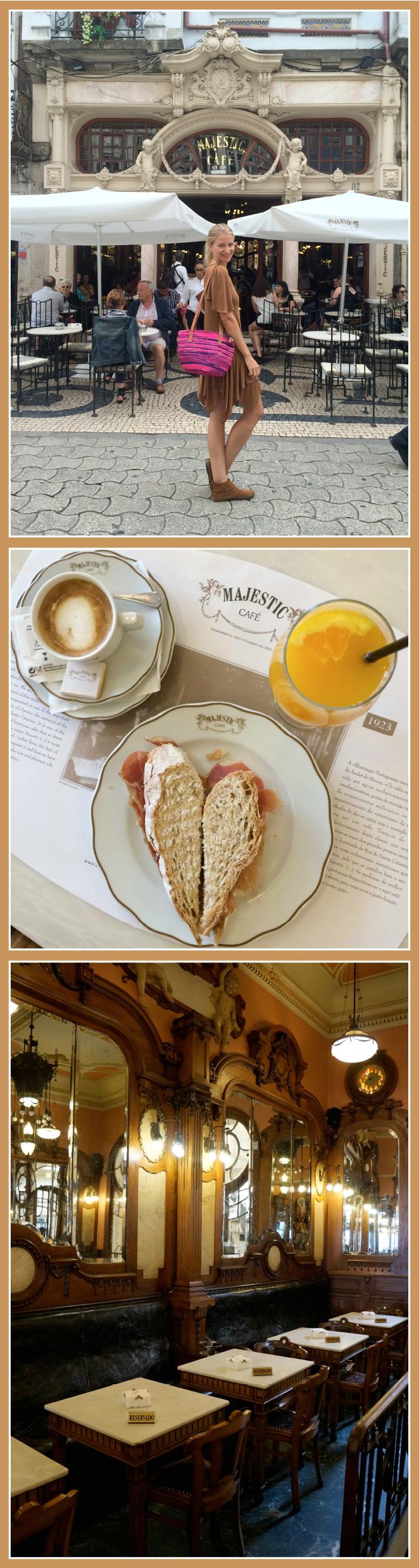 "Cafe Majestic de estilo ""Art Noveau"", ideal para desayunar o tomar café por la tarde"