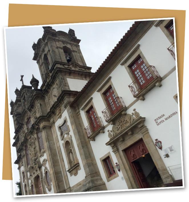 El Parador Santa Marinha da Costa de Guimaraes que fue un antiguo Monasterio del inicio del S.XII