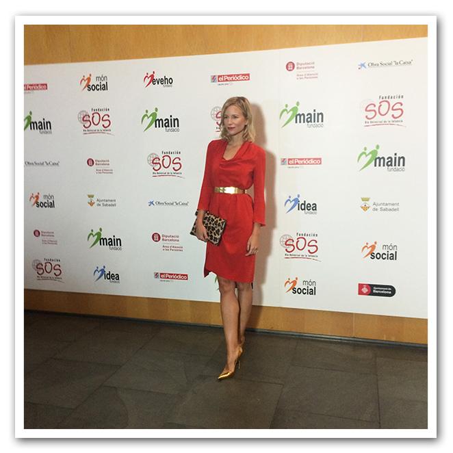 María León en la gala de la fundación SOS