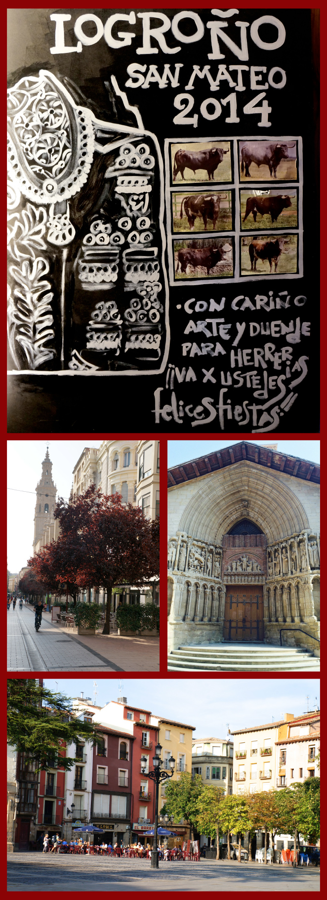 Logroño, cuyas famosas Fiestas de San Mateo estaban culminando.