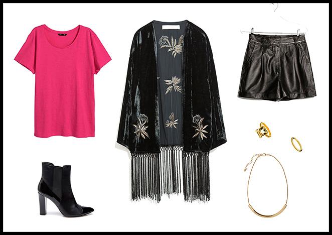 Zara, Camiseta y Colgante: H&M, Pantalones: Mango, Anillos: Aristocrazy, Botines: Pedro del Hierro.