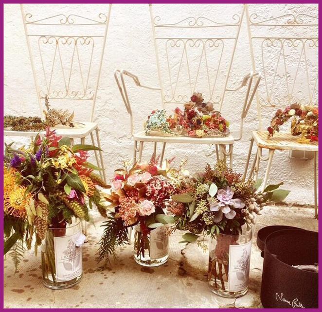 Un curso de centros de flores en Sally Hambleton.