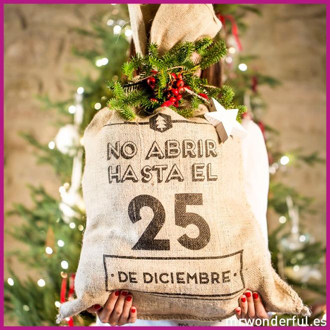 Un precioso saco de Mr. Wonderful para guardar los regalos de Navidad.