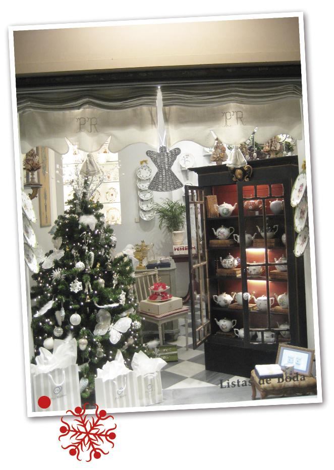 Escaparates de tiendas en Navidad