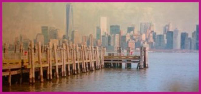 Uno de los maravillosos cuadros de Ánnemon, este se llama Mirando Manhattan y es de Miranda.