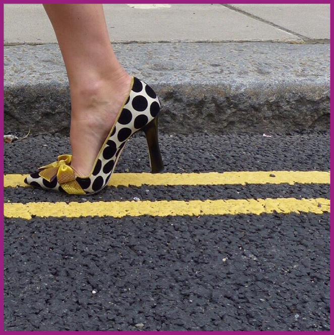 Unos zapatos de lo más glamurosos de Manolo Blahnik.