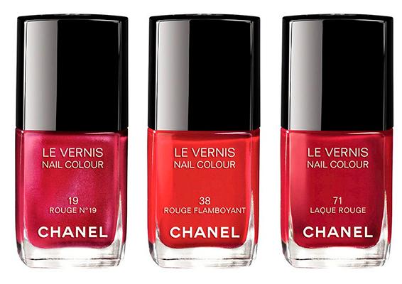 Lacas de uñas rojas de Chanel