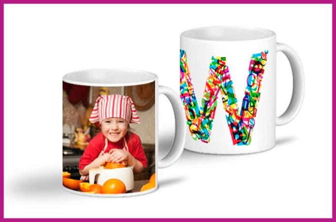 Una taza personalizada de lo mas colorida y alegre de Getsingular para tomar un delicioso té cada mañana.