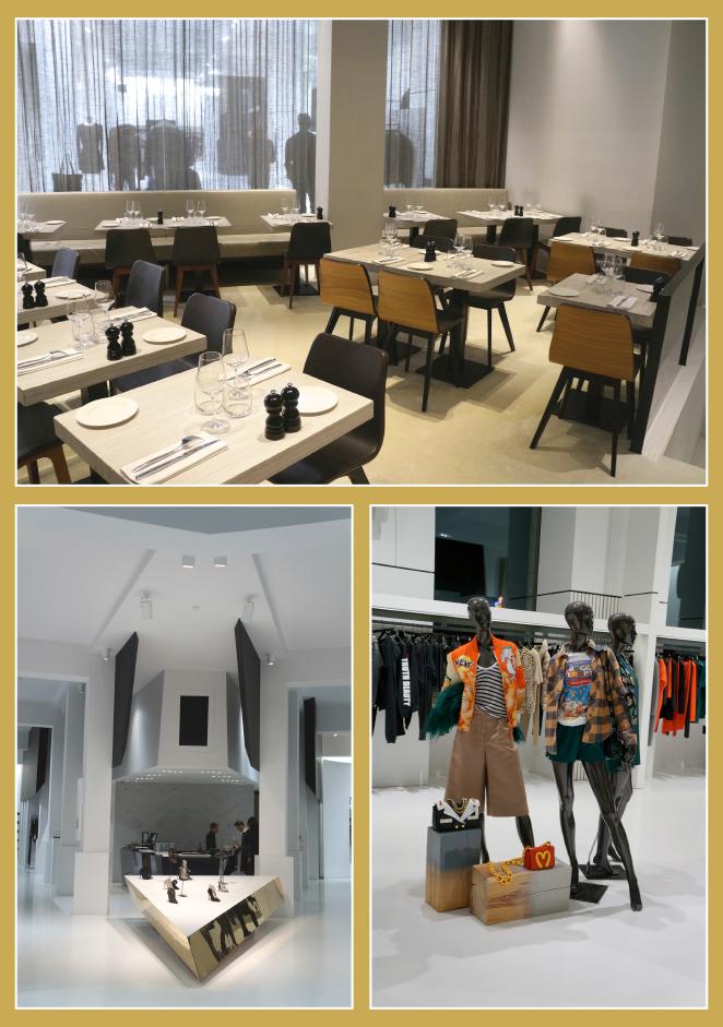 Restaurante Reinaissance es muy cool y moderno con un menú de aire muy italiano!!