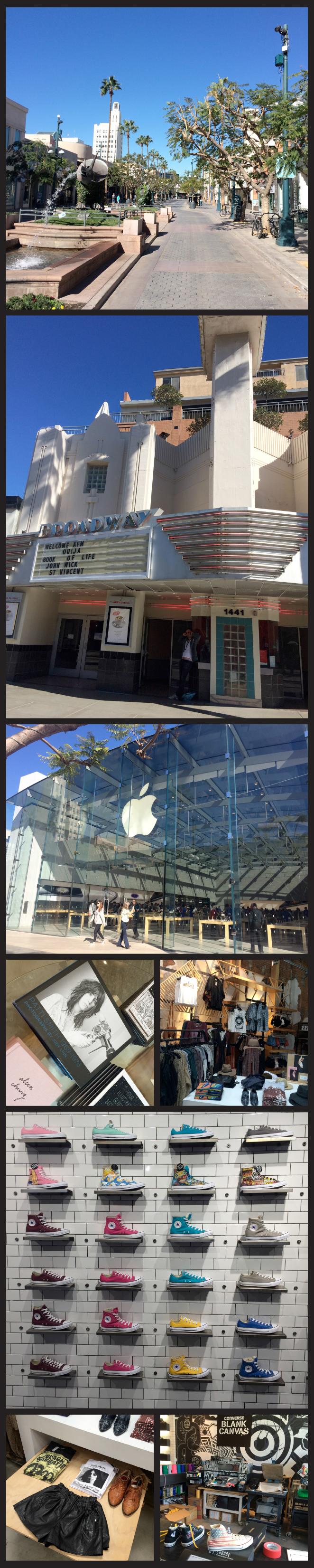 Third Street en Santa Mónica, donde encontraréis tiendas populares americanas y más asequibles (Victoria´s Secret, Apple, Converse…)!!
