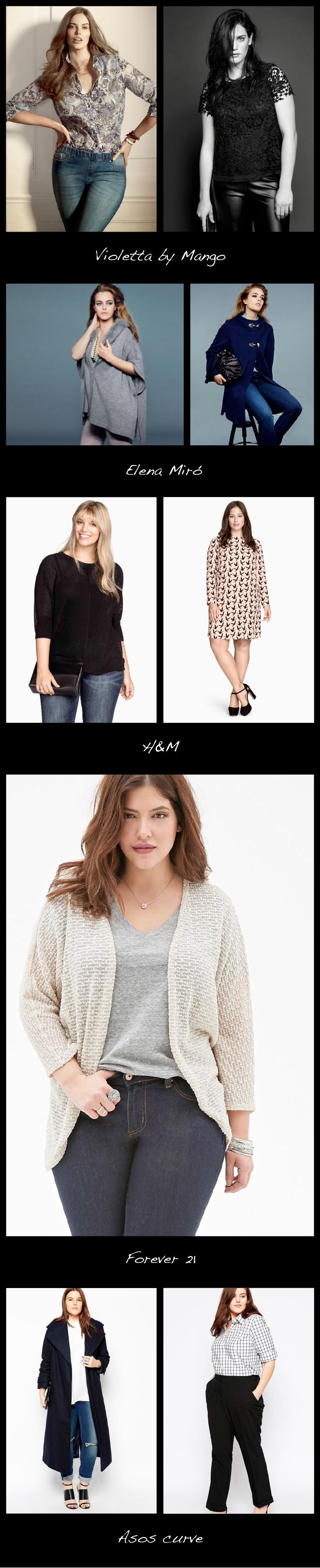 Recomendaciones de tiendas de moda con tallas grandes