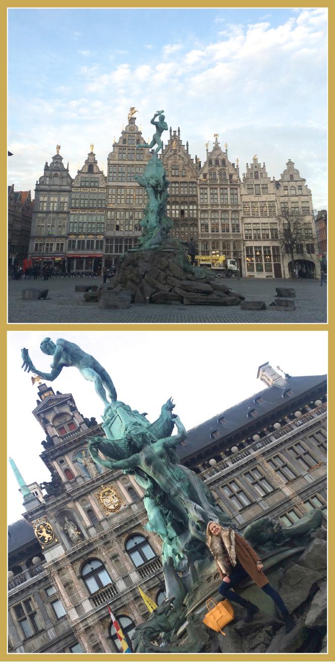 La Plaza Grote Markt en la que se encuentra el Ayuntamiento.