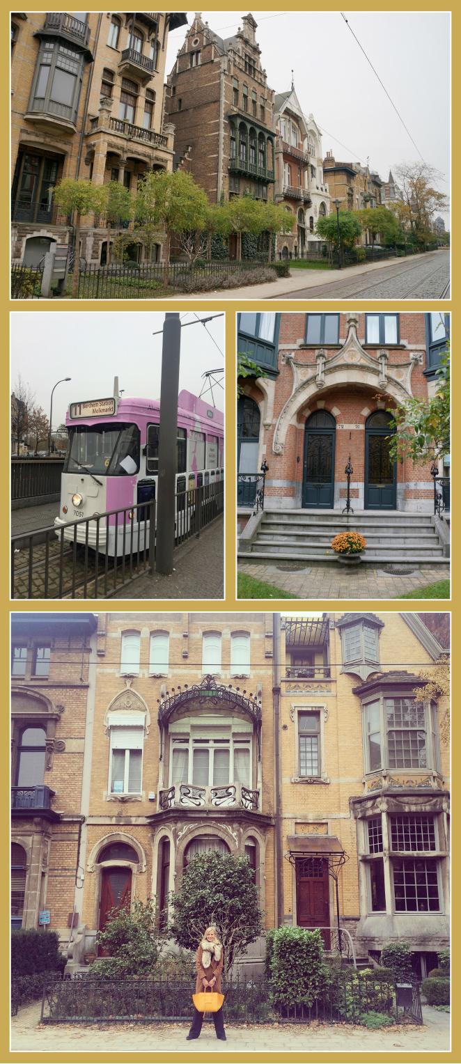 Berchem Station. A escasos metros se encuentra la calle Cogels Osylei con casas de estilo Art Noveau.