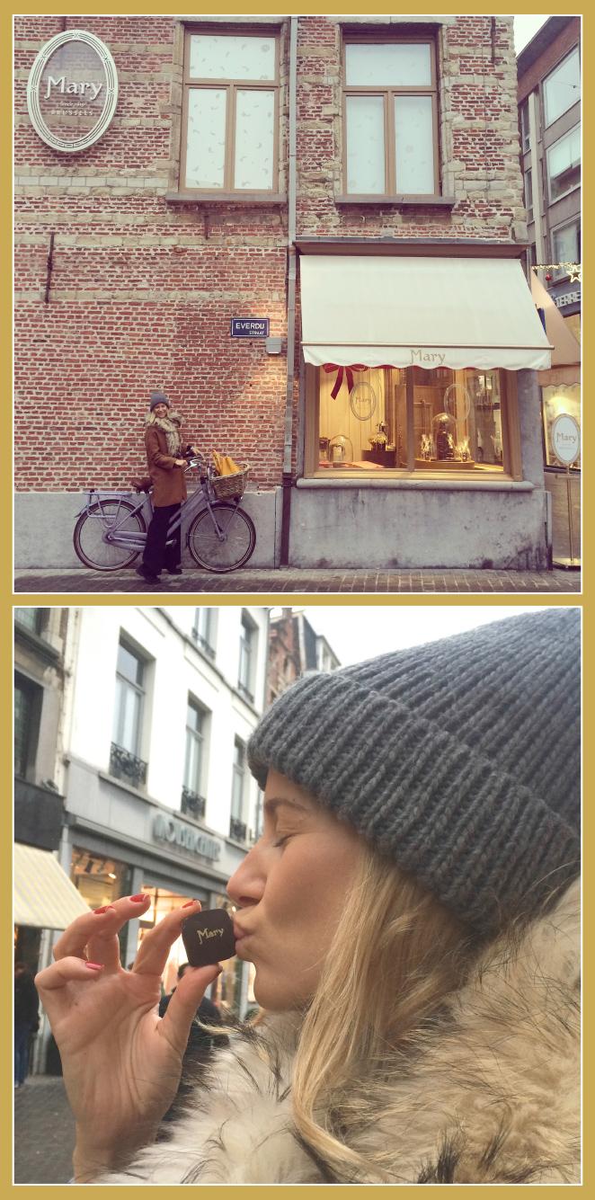 Calle Korte Gasthuisstraat, donde está la chocolatería belga Mary y también Burie.