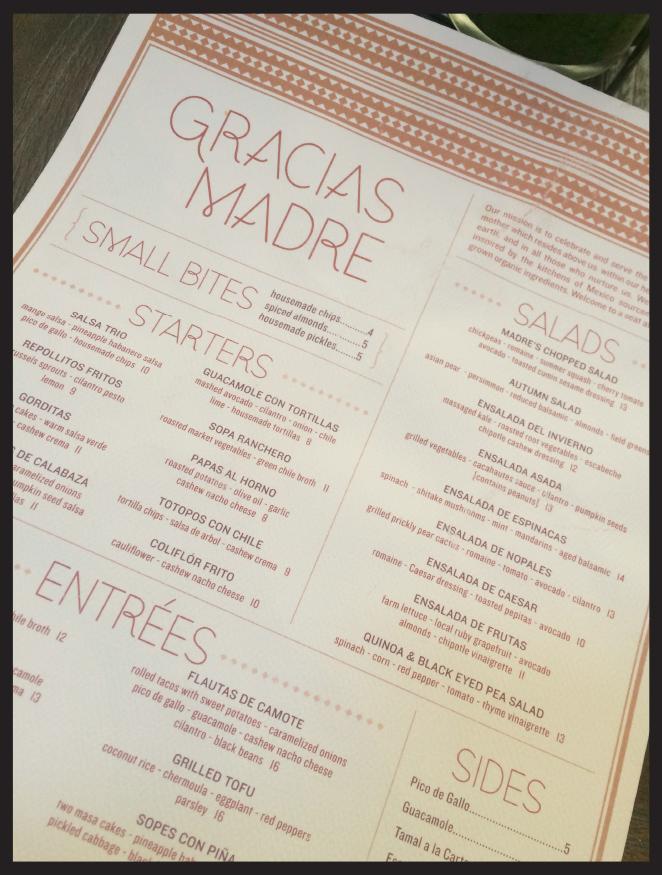 Gracias Madre, es otro restaurante apetecible en Los Ángeles. Es más bien de estilo casual y se encuentra en Melrose Avenue.