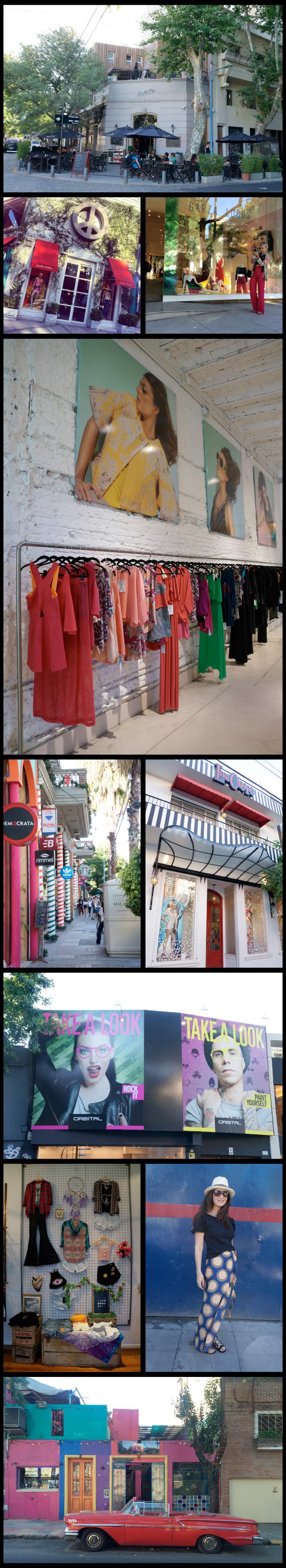 Aquí es imprescindible visitar las tiendas de la diseñadora argentina Jazmin Chebar, Garza Lobos y también Ginebra, la tienda de Micaela Tinelli, hija del famoso presentador Marcelo Tinelli!!!