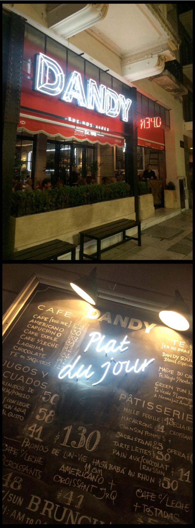 Para una comida o cena desenfadada me encantó Dandy en la Avenida del Libertador.
