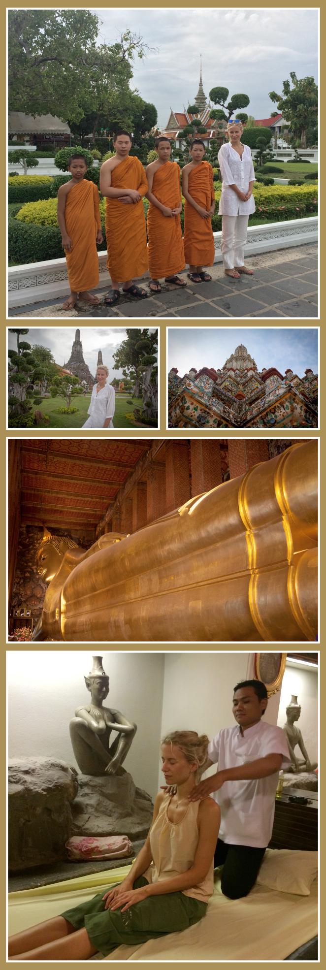 Wat Arun (Templo del Amanecer) y Wat Pho (Buda Reclinado)