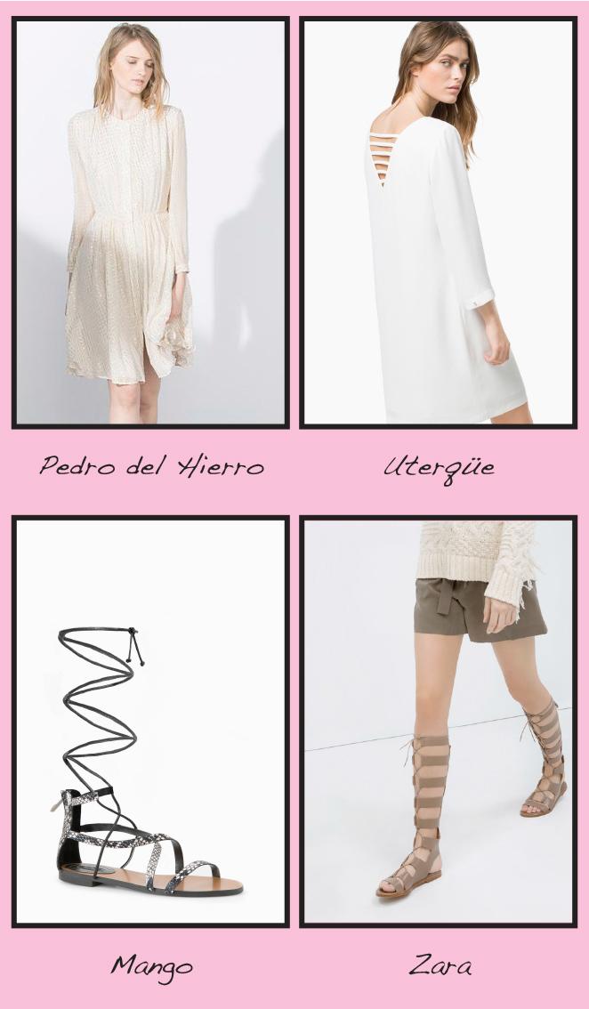 Boho - Vestido y sandalia romana
