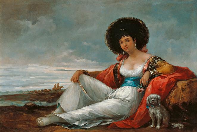 La Maja del perrito, de Eugenio Lucas Velázquez