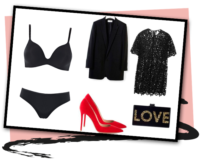 Looks de fiesta, con transparencias, en los que una ropa interior que nos favorezca y nos haga sentir sexys, será nuestro mejor aliado