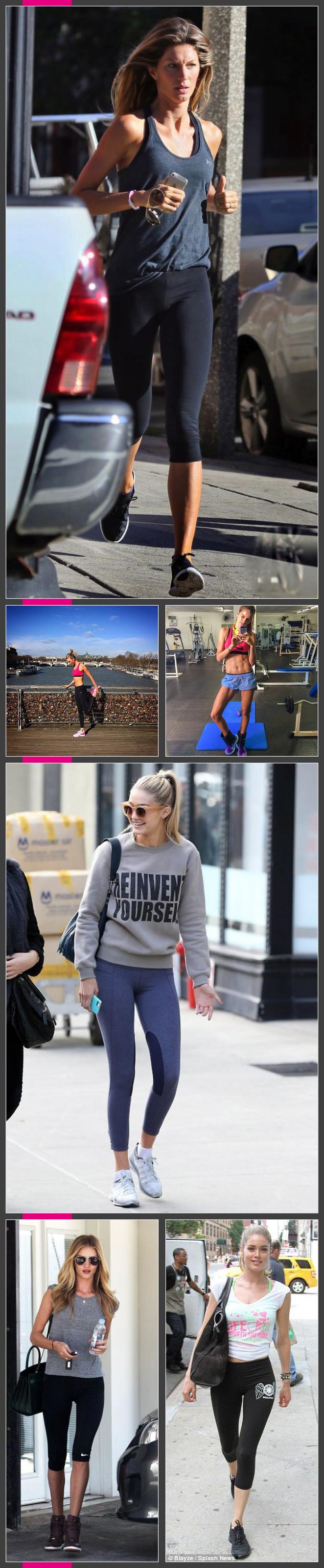 Gisele, Karlie Kloss, Gigi Hadid, Iza Goulart, Candince Huffine y Doutzen Kroes se dejan ver a diario con estilismos deportivos muy cómodos y favorecedores!