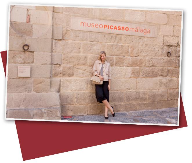 María León en el Museo Picasso, Málaga