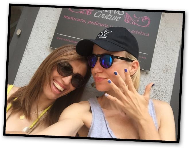 Isabella Maia del Centro Nails Couture con María León