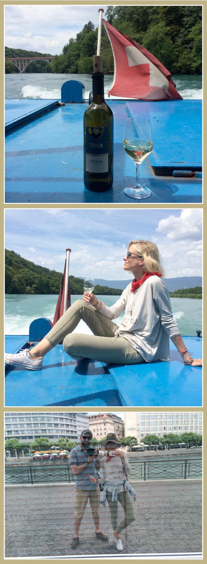 Después de este plan de campo bicicletero, la manera más relajante de volver al centro de la ciudad es en barco mientras disfrutas de una cata de vino suizos.