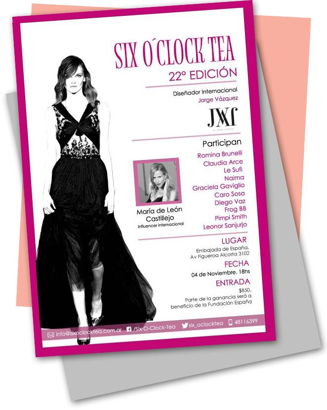 evento de Moda y Solidaridad, Six O'click, fundado por Carminne Dodero