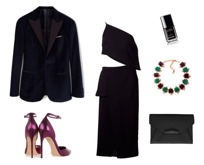 Para Nochevieja apuesta por una unión ganadora; el vestido negro sofisticado, unos zapatos de tacón vistoso y una pieza especial de bisutería, tres chic!