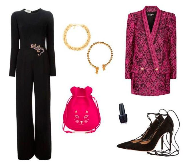 Para Fin de Año apuesta por el color en la prenda superior, añádele accesorios llamativos como un collar o un broche a modo de cinturón y tendrás un resultado diferente y muy cool!