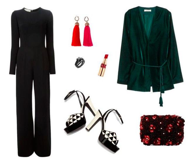 Para la cena de empresa combínalo con un kimono en un tejido especial como la seda o el terciopelo y añade accesorios especiales como unos pendientes de borlas que te darán el toque original al look