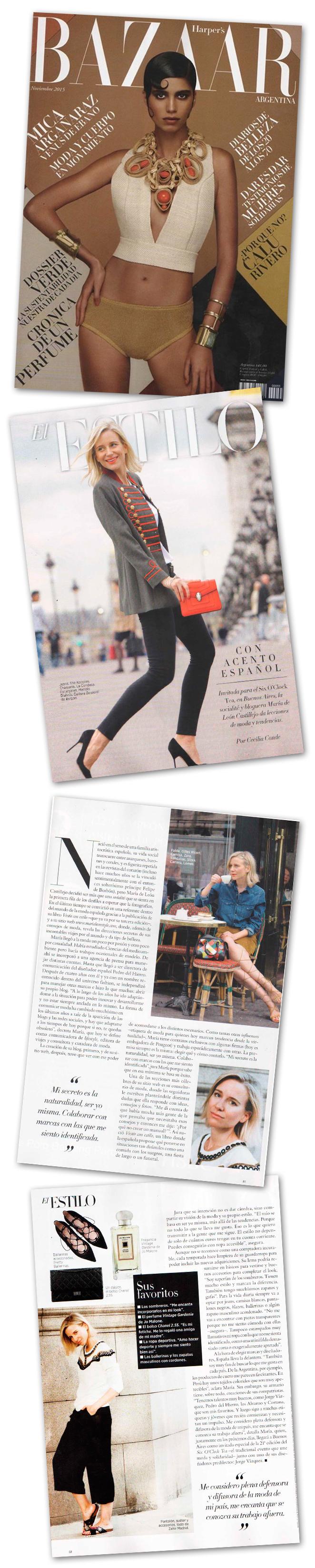 Reportaje María León - Harpers Bazaar Argentina