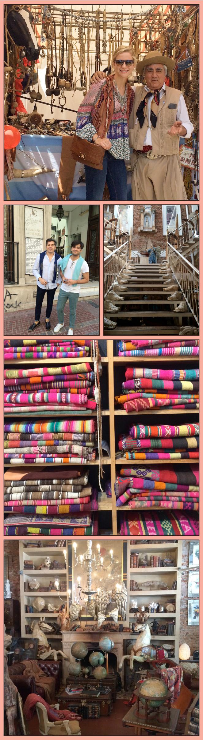 Tienda Gabriel del Campo y Nativo Argentino donde pude ver sus coloridas mantas argentinas que tenían más de 80