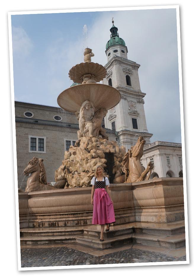 Residenz Platz donde se ubica la catedral y la famosa Fuente de la Residencia