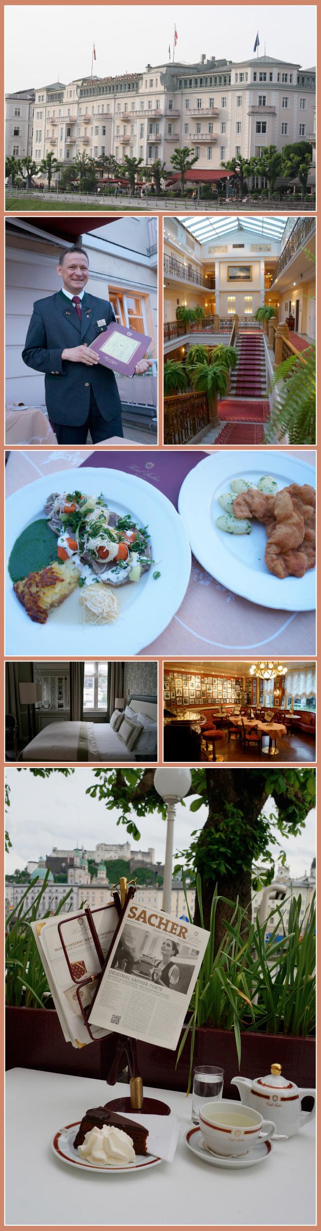 Mítico Hotel Sacher, 5*GL, debe su nombre a la familia Sacher, que originalmente creó la Tarta Sacher en 1832 y posteriormente se inició en el negocio hotelero, con el Hotel Sacher de Viena, el referente internacional