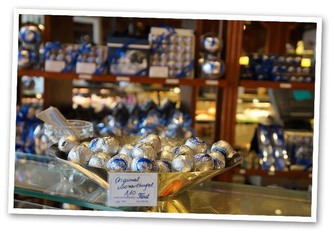 Pastelería Fürst original del Salburger Mozartkugel, los bombones dedicados a Mozart